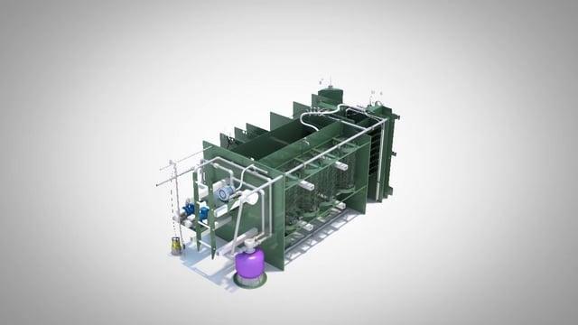 3D анимация станции очистки воды