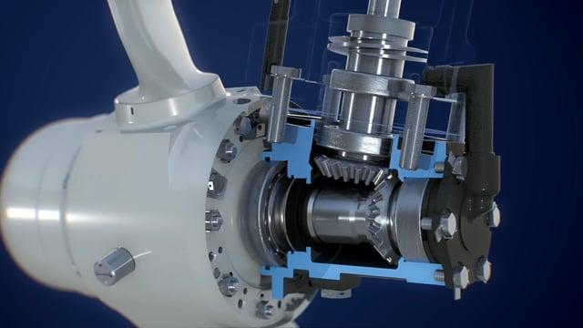3D анимация агрегата для самолета