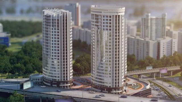 3D анимация строительства здания